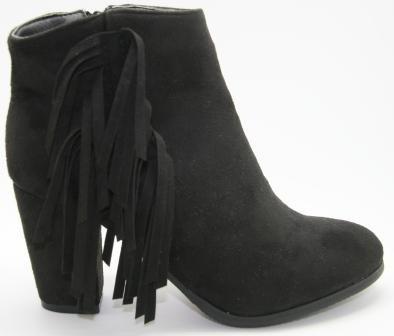 sorte støvler med frynser