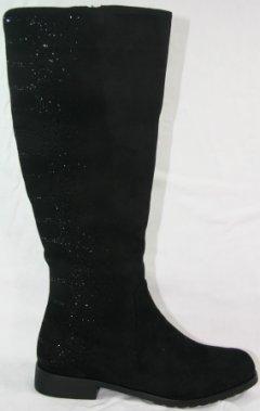 756bc3c3d71d Lange sorte støvler med fine sten. Str. 39 og 40